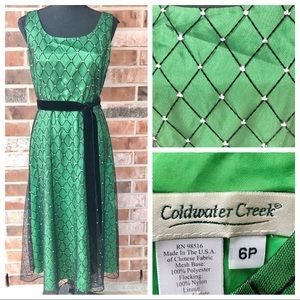 Green Mesh Evening Dress Coldwater Creek